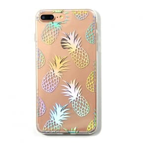 Liana Teal Shiny Pineapple Case for iPhone X