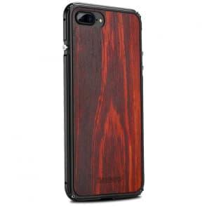 iPhone X Wood Metal Case