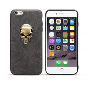 Skull Leather Case for iPhone X