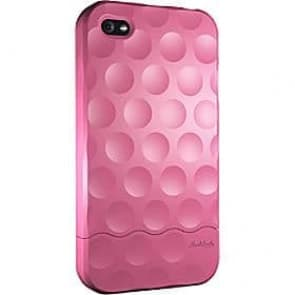 Hard Candy Soft Touch Pink Bubble Slider Case for iPhone 4
