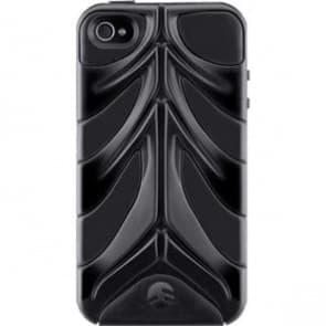 SwitchEasy CapsuleRebel Black Spine Hard Shell Case for iPhone 4 4S