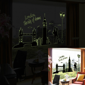 Glow in the Dark Wall Stickers City Themes London