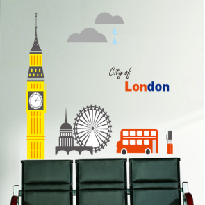City of London Wall Decal Sticker