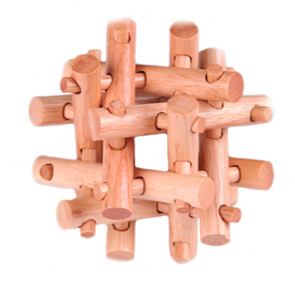 Kong Ming Lock Seal Puzzle Intelligent Educational Wooden Toy Brain Teaser