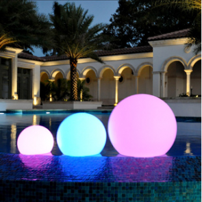 """LED Color Changing Waterproof Cordless Outdoor Light Ball 20cm 8"""""""