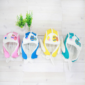 LemonKid Cute Owl Fleece Biker Pilot Style Hat Angel Wings Ear Muff Kids Baby