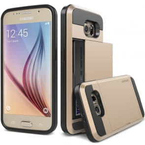 Verus Gold Galaxy S6 Case Damda Slide Series