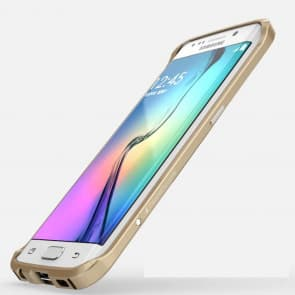 Luphie Galaxy S6 Edge Protective Layers Stealth Bumper Metal Case