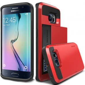 Verus Red Galaxy S6 Edge Case Damda Card Slide Series