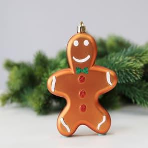 Gingerbread Man Shape Christmas Tree Bulbs 4 Pcs
