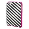 iPhone 6 6s Plus Kate Spade Diagonal Stripe Black/Cream Hybrid Hard Shell Case