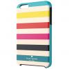 iPhone 6 6s Plus Kate Spade Candy Stripe Turquoise/Yellow/Orange/Pink/Navy Hybrid Hard Shell Case