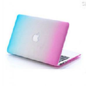 MacBook Pro Skin Shell Full Body Case for MacBook Air Pro Retina 11 13 15 All Models Blue to Pink