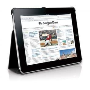 Macally Bookstands Sand Suede Beskyttende Case & Holder til iPad