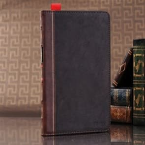 Book Style iPad 4/3/2 Brown Red Leather Stand and Hybrid Case