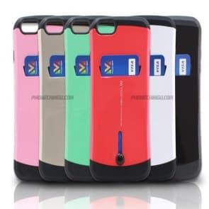 LG G4 Slim Tough Defender Card Holder Wallet Case