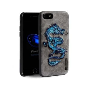 Embossed Dragon Leather Case for iPhone X