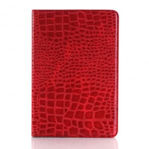 Crocodile Leather Type Folio Case for iPad Mini 4