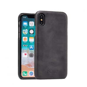 Leather Microfiber Case for iPhone X