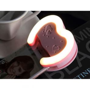 LED Selfie Beauty Heart Flash for Galaxy S6, S6 Edge