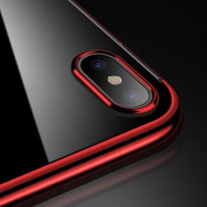 Thin Metal Clear Protective Case for iPhone X