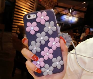 Soft Flower Case for iPhone 7